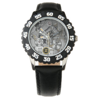 Kid's Stainless Steel Black Numbered Watch