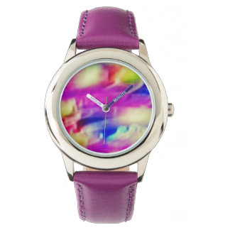 KIDS' STAINLESS STEEL WATCH - COLOR ABSTRACT