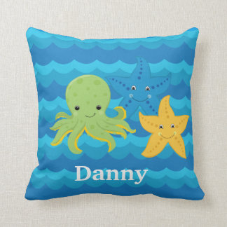 KIDS  STARFISH & OCTOPUS Custom Pillow Gift