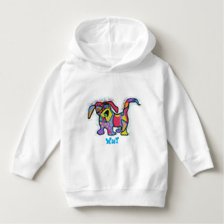 Kids stay warm with zany dog design hoodie