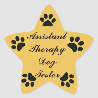 Kids Sticker~ Assistant Therapy Dog Tester Star Sticker