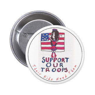 Kids Support Our Troops Button