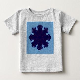 Kids t-shir grey with Blue mandala Baby T-Shirt