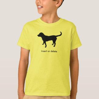 Kid's t-shirt black lab silhouette