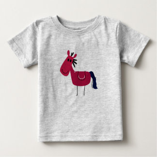 Kids t-shirt grey with Brown horse