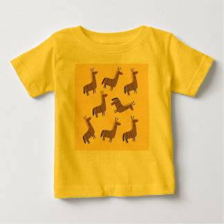 Kids t-shirt lamas  yellow