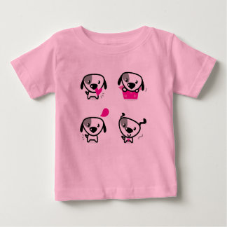 Kids t-shirt pink with Little Dogs