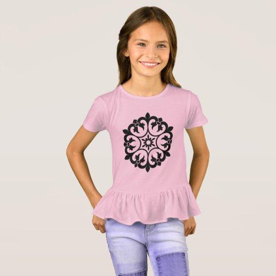 KIDS t-shirt pink with mandala