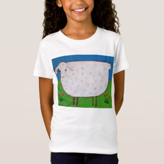 "Kids T-shirt- ""Shirley Sheep With Tulips"" T-Shirt"