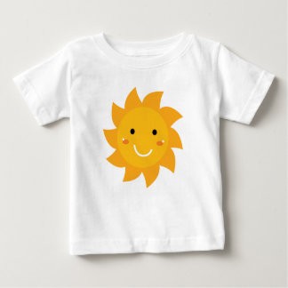 KIDS T-SHIRT WHITE with yellow Sun