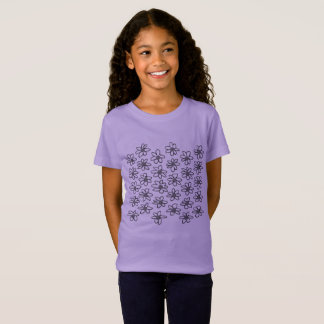 Kids t-shirt with flowers / Lavender edition