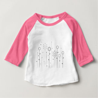 Kids t-shirt with Folk flowers