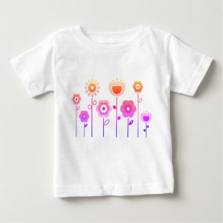 KIDS t-shirt with PINK FLOWERs