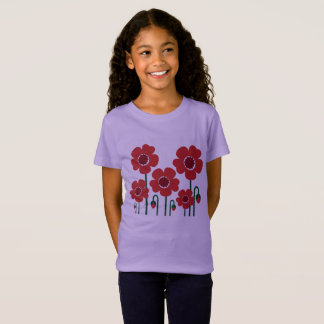 Kids t-shirt with Poppies Lavender edition