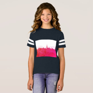 Kids t-shirt with town silhouette