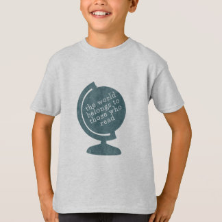 Kid's T-Shirt World Belongs to Those who Read Blue