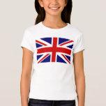 Kid's T Shirts with British Union Jack flag