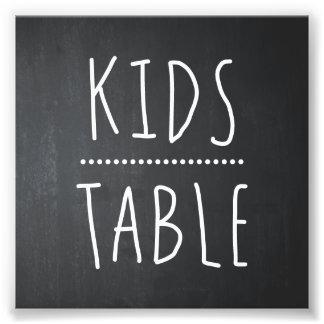 KIDS TABLE WEDDING DECOR   TABLE SIGN PHOTOGRAPH