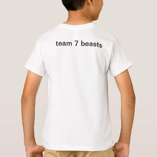 kids team 7 front back, t-shirt