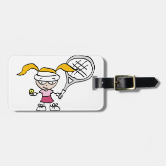 Kids tennis luggage tag