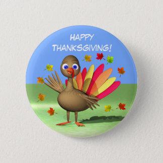 Kids Thanksgiving Baby Turkey 2 Inch Round Button
