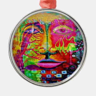 Kid's Theater Face Art by sharles Art Christmas Tree Ornament