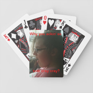 Kids think they are so hip with their crazy talk?! bicycle playing cards
