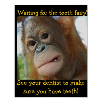 Kids Tooth Fairy Children Dentist Poster