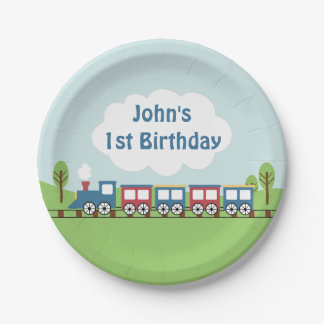 Kids train Birthday Party Paper Plate