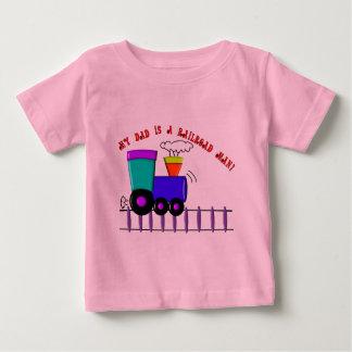 """Kids Train Shirts """"My Dad is a Railroad Man"""""""