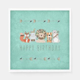 Kids Tribal Animal Birthday Party Disposable Napkin