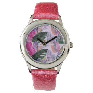 Kids Tropical Plant Pattern Watch