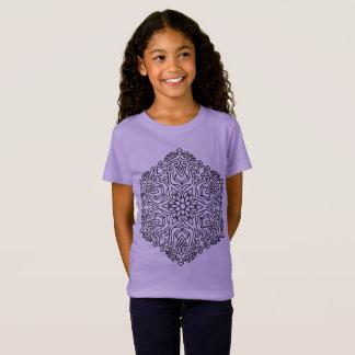 Kids tshirt Lavender with Mandala