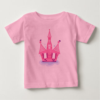 Kids tshirt pink with PRINCESS CASTLE