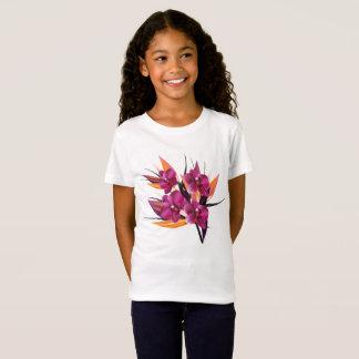 Kids tshirt with Hawaii flowers