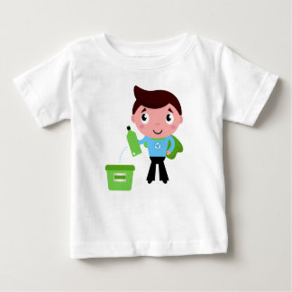 Kids tshirt with recycle boy