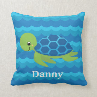 KIDS TURTLE Waves Custom Pillow For Boat Gift