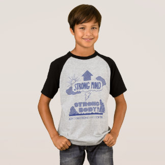 Kid's Unisex Strong Mind Strong Body Raglan Tee