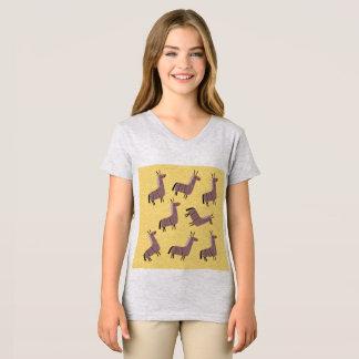 Kids v t-shirt lamas