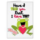 Kids Valentine Frog Card