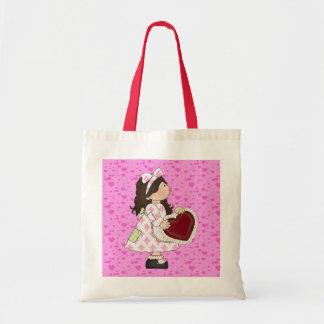 Kids Valentine tote bag