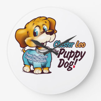 Kids Wall Clock From Chester Leo: The Puppy Dog!