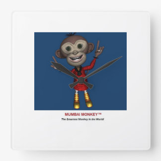 Kids Wall Clock - Mumbai Monkey™