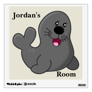 Kid's Wall Decal Cute Baby Seal Smiling