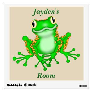 Kid's Wall Decal Cute Tree Frog