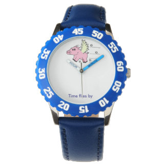 Kid's Watch Flying Pig - Blue