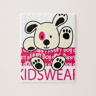 kids wear, baby dog jigsaw puzzle