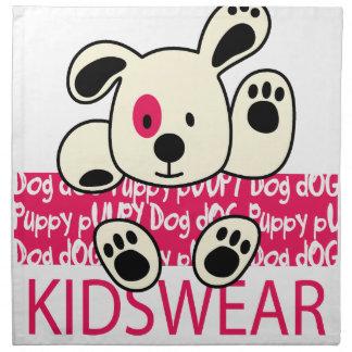 kids wear, baby dog napkin