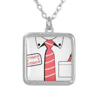 kids wear, cool design silver plated necklace