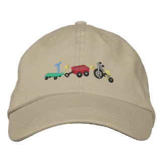Kid's Wheels Embroidered Hats